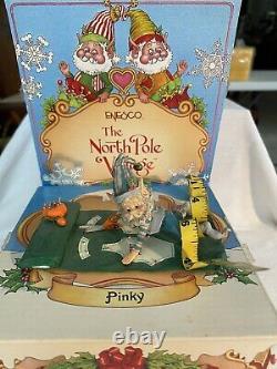Enesco Sandy Zimnicki PINKY 831565 North Pole Village RARE GREEN
