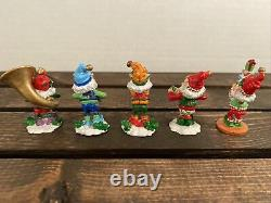 Enesco The North Pole Village Elves Pewter Figurines (5) Musical Band & Presents