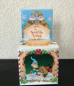 Enesco The North Pole Village Fronsie Elf Cookies Christmas w Box 1992 Figurine