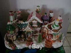 Fiber Optic Gingerbread House Candy North Pole Xmas Village Puleo Large Piece