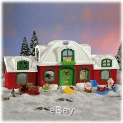 Fisher Price Little People Santa's North Pole Cottage Village Music Play House