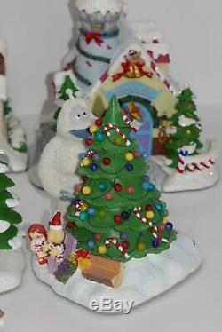Hawthorne Village Rudolph's Christmas Town Village Collection Lot withCOA & Boxes