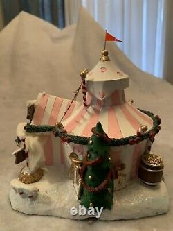 Hawthorne village Rudolph Christmas Town Spotted Elephant's North Pole Big Top