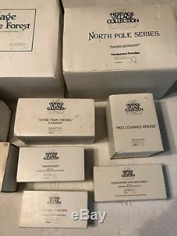 Heritage Village Collection Handpainted Porcelain North Pole Series