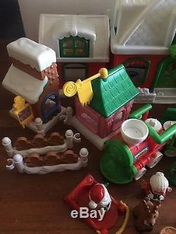 Huge Set LITTLE PEOPLE Santa's North Pole Christmas Santa Train village Mrs Tree