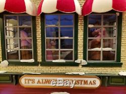 Hyde Park Animated Village It's Always Christmas Mr. Christmas Musical Toy Store