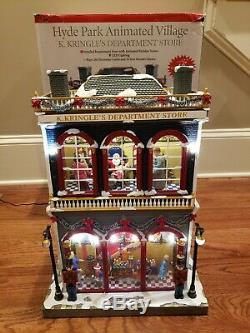 Hyde Park Animated Village K. Kringle's Department Store Mr. Christmas Musical