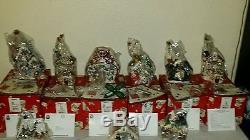 Lot Of 9 Clayworks Heather Goldminc Blue Sky Christmas North Pole Village Nib