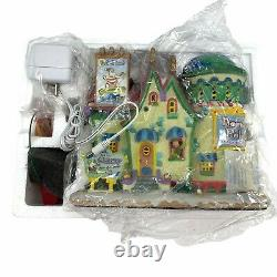 Lemax North Pole Travel Agency Christmas Village House Light Up Animated 2007