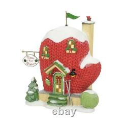 NEW 2021 Department 56 North Pole Village Nina's Knit Mittens Building 6007615