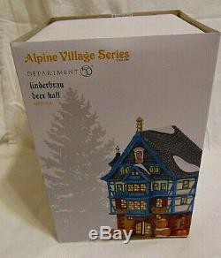 NEW Department 56 Alpine Village Series Linderbrau Beer Hall 6003048 Octoberfest