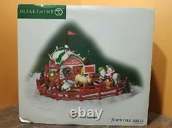 NEW Dept 56 56776 Lucky Pony Rides Horse Ranch Barn North Pole Christmas Village