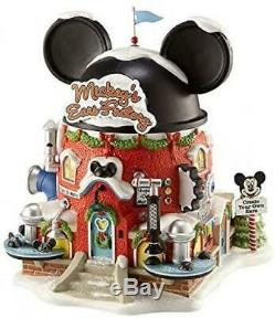 New Department 56 North Pole Village Mickey's Ear Factory Miniature Lit Building