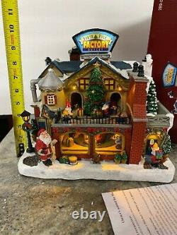 North Pole Toy Factory Santa Elves Animated Village Lighted Christmas Music New