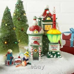 Pip and Pop's Bubble Works Department 56 North Pole Village Dept NEW 4025280 Lit