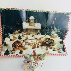 RARE 1992 Enesco The North Pole Village Frosty & Mason By Sandi Zimnicki (P1)