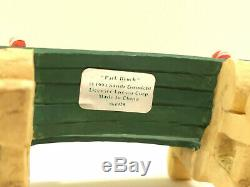 RARE 1994 ENESCO The North Pole Village PARK BENCH #861928 ACCESSORY FIGURINE