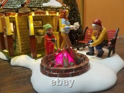 RARE Dept 56 55096 The Cocoa Stop Hot Chocolate Stand Campfire Christmas Village