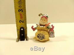 RARE Enesco 1990 SANDI SIMNICKI The North Pole Village CRINKLES 830143 ELF