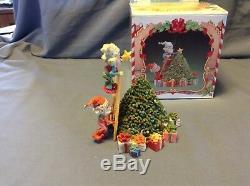 RARE Enesco North Pole Village Elf Elves Twinkles & Tootsie 871567 with Box