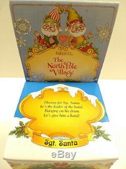 RARE Vtg 1994 ENESCO The North Pole Village SGT. SANTA #869635 SANDY ZIMNICKI