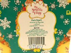 RARE Vtg Enesco THE NORTH POLE VILLAGE PARK BENCH #861928 1994 SANDI ZIMNICKI