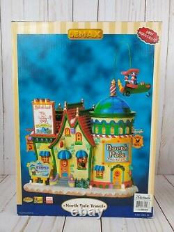 Rare'07 Lemax Village Collection North Pole Travel Lighted & Animated Watch Vid