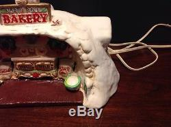 Rare Enesco The North Pole Village Musical Santa's Bakery #316741 With Box