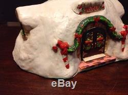 Rare Enesco The North Pole Village Musical Santa's Bakery #316741 With Box