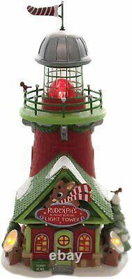 Rudolph's Blinking Beacon Dept 56 North Pole Village 6005433 Christmas house Z