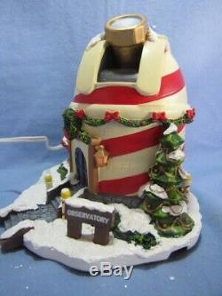 Rudolph's Town Village The North Pole Observatory- Lighted-mint In Box/ Coa