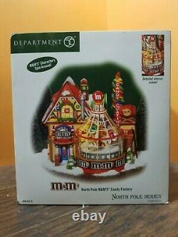 SEE VIDEO! Dept 56 North Pole M&M Candy Factory Store Animated Christmas Village