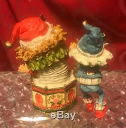 VERY Rare 1988 THE NORTH POLE VILLAGE Figurine DANDY ANDY ELF Vintage ENESCO