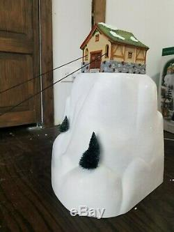 VIDEO! Dept 56 52511 Animated Gondola Snow Ski Lift Cable Car Christmas Village