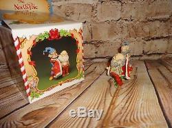 Vintage 1986 Enesco The North Pole Village Seamer & Santa Rare! Box, Mint