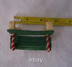 Vintage 1994 Enesco The North Pole Village Candy Cane PARK BENCH with Box 861928