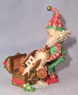 Vintage 1994 Enesco The North Pole Village Elf Figurine MAYOR MISTLETOE with Box