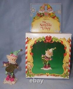 Vintage 1994 Enesco The North Pole Village Elf Figurine SNOOZLES with Box 861987