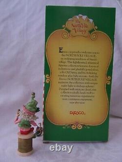 Vintage 1994 Enesco The North Pole Village Elf Figurine TWIDDLES with Box 869651