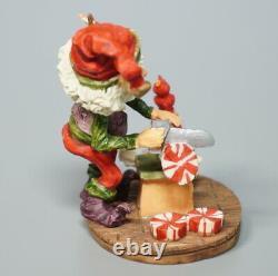 Vintage Enesco North Pole Village Buzz Candy Maker Elf Christmas Figurine 871729