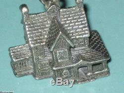 Vintage Sterling Silver Dept. 56 North Pole & New England Village 6 Charm Lot 65g